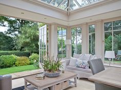 Attractive interior view of an orangery