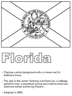 Florida State Symbols Coloring Pages