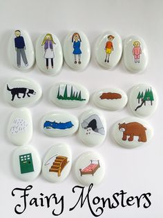 We're going on a bear hunt story stones early childhood literacy ideas Literacy Activities, Activities For Kids, Early Childhood Education Programs, Teddy Bear Birthday, Childhood Stories, Preschool Programs, Story Stones, Stone Crafts, Early Literacy