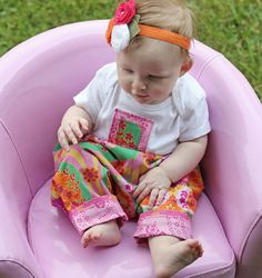 Easy Reversible Baby Pants Pattern, Poofypants PDF E-Book