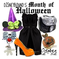 I would love to have a halloween themed outfit for each day of october. Especially those shoes!
