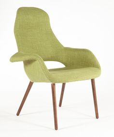 Look at this Green Organic High-Back Chair on #zulily today!