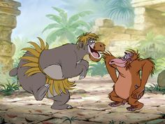 """""""I Wanna Be Like You..."""" The Jungle Book always puts in a good mood!"""