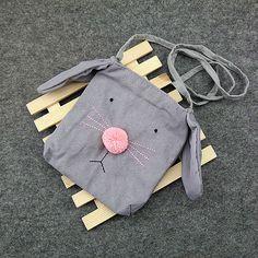 Sale 22% (8.89$) - Children Cartoon Rabbit Crossbody Cute Casual Shoulder Bag for Kindergarten Kids