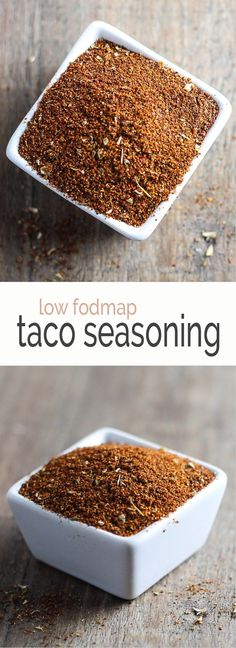This Low Fodmap Taco Seasoning may be onion free and garlic free, but it's FILLED with flavor! A kitchen staple, this Low FODMAP Taco Seasoning is gluten-free, garlic free and onion free, but full of flavor! Homemade Seasonings, Homemade Spices, Fodmap Diet, Low Fodmap, Fodmap Foods, Low Carb, Taco Seasoning, Seasoning Recipe, Sans Gluten Ni Lactose