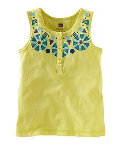 Take a look at this Yuzu Necklace Henley Top - Infant, Toddler & Girls by Tea on #zulily today!