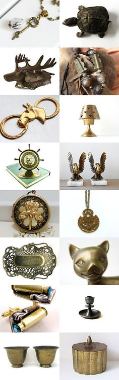 Vintage Brass  by TheVintageCinderella on Etsy--Pinned with TreasuryPin.com