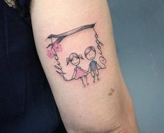 Tatuaje en honor a los hijos