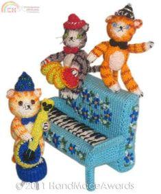 Handmadeawards The Cotton Club Cats-Knitting and Crochet Communication-Knitting Patterns-PinDIY -