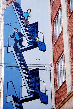 Tintin _ Brussels / Arte de Rua / Street Art