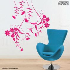 Wall decals HANGINING FLOWERS Floral surface by decalsmurals, $39.00