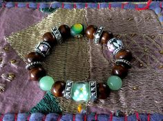 Tribal and Bohemian Wood Bracelet