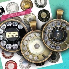 Vintage Telephone Retro rotary telephone digital by GraphicsPaper