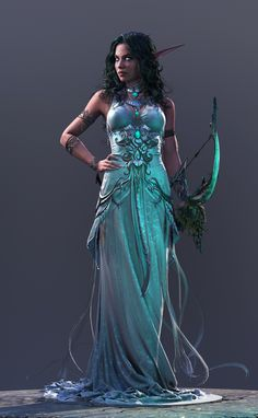 Tyrande - High Priestess of Elune by George Panfilov | Fan Art | 3D | CGSociety