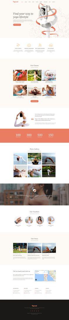 Moto CMS 3 Template , Yoganati - Premium