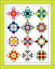 Sampler quilt layout ideas
