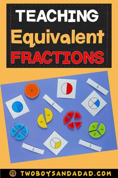Teaching about equivalent fractions involves using math tools like bar models, fraction strips and number lines. Teaching Fractions, Teaching Math, Math Fractions, Dividing Fractions, Multiplication, Maths, Math Strategies, Teaching Resources, Teaching Ideas