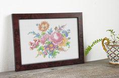 Victorian cross stitch design SEA OF FLOWERS hand by hallodribums