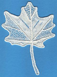 Learn needle lace - needle lace maple leaf