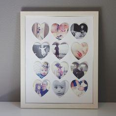 DIY Fotos mit Herz-Passepartout im Bilderrahmen | Geschenk Valentinstag Hochzeit Hochzeitstag Jahrestag Liebe