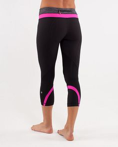 lululemon run inspire crop. love the pink on these