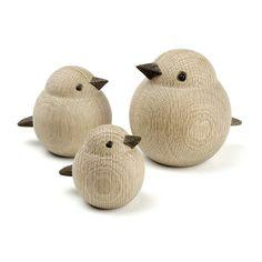 træ arbejde træ fugle dreje træ - drejning - Novoform Mor spurv - wood work design