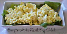 Easy Quail Egg Salad Recipe