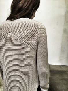 Knit details from Brochu Walker's Fall 2016 Greene Sweater
