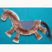 Chinese New Year – Year of the Horse: Paper plate horse craft. Chinese New Year – Year of the Horse: Paper plate horse craft.