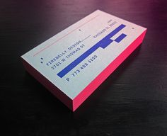 Firebelly Design Business Cards by Will Miller, via Behance