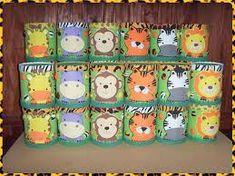 Imagen relacionada Safari Theme Party, Jungle Party, Party Themes, 2nd Birthday, Birthday Parties, Jungle Decorations, Mickey Safari, Diy And Crafts, Arts And Crafts