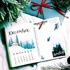 Handmade Planner Cover - December