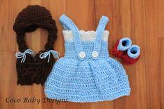 Crochet Dorothy Inspired Photography Prop Set  por CocoBabyDesigns