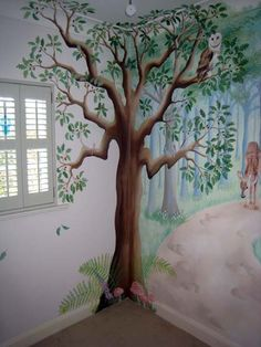 fairy tree mural. I like how its done in the corner