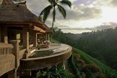 It is The Viceroy in Ubud, Bali, Indonesia and it is one of the most serenely beautiful vacation spots in the world. With its excessive indoor and outdoor pools, majestic mountain views, and lush green surroundings, it is quite a surreal place.