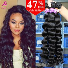 Brazilian Virgin Hair Curly Weave Human Hair Brazilian Hair Weave Bundles 3Pcs Brazilian Loose Wave Rosa Queen Hair Products