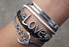 Inspirational braceletsanchor braceletLOVE by charmjewelrybracelet, $10.29