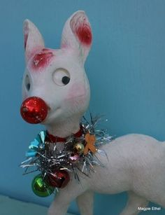 Insanely goofy reindeer from Magpie Ethel - designer of cheerfulness