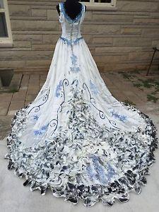 Corpse-Bride-Emily-Halloween-Costume-Wedding-Dress-Veil-OOAK-Cosplay-Sz-14