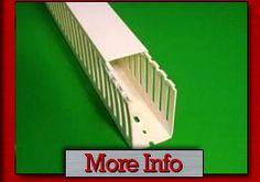 "1"" x 1"" 2m White Hi Density Thin Finger Wiring Duct"