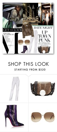 """""""#Cropped Faux Fur"""" by nikkisg ❤ liked on Polyvore featuring Mode, Prada, Avenue, Jason Wu, Emilio Pucci, Christian Louboutin, Victoria Beckham, Dry Lake, women's clothing und women"""