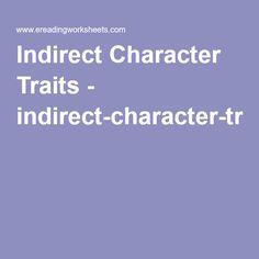 Indirect Character Traits - indirect-character-traits-worksheet.pdf