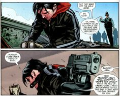 I love the way Jason speaks. So full of it and cocky. Reminds me of Dean and Alec Jason Todd Robin, Red Hood Jason Todd, Marvel Funny, Marvel Dc, Teen Titans Love, Couples Cosplay, Batman Universe, Tim Drake, Comic Page