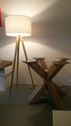 Pied central en bois pour table Pays Bois