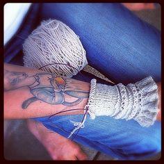 Knitting Cat Tattoo | 20 Tattoos Inspired ByCrafting