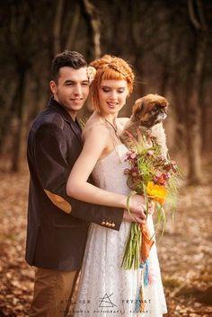 #Dagnez #wedding #dress Sofia II #autumn #lovely #puppy