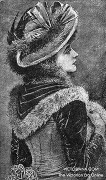 Hat from 1892 from Victoriana Magazine