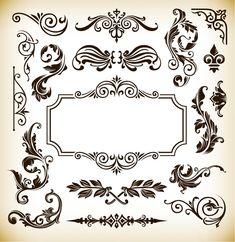 Vintage Pattern Frame Decoration Vector Graphics | Free Vector Graphics | All Free Web Resources for Designer - Web Design Hot!