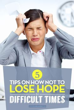 When something difficult happens, it is easy to curl up and wait for it to pass. But, doing so can diminish your hope and cause you to fall off track from where you are and where you were going. How can you avoid losing hope during difficult times?   http://www.ilanelanzen.com/personaldevelopment/5-tips-on-how-not-to-lose-hope-in-difficult-times/