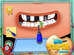 Aplicación móvil que ayuda al niño a entender como cuidar los dientes y la importancia de hacrelo mientras juega.